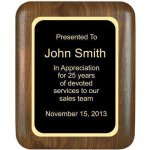 Elliptical Solid Walnut Plaque Corporate Plaques