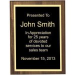 Bevel Solid Walnut Plaque Corporate Plaques