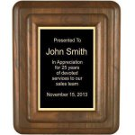 Floating Solid Walnut Plaque Corporate Plaques