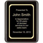 Piano Finish, Round, Black Corporate Plaques