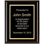 Piano Finish, Square, Black Corporate Plaques