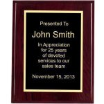 Piano Finish, Square, Red Corporate Plaques