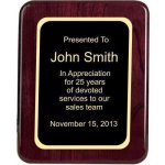 Piano Finish, Round, Red Corporate Plaques