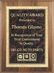 Genuine Walnut Plaque Corporate Plaques