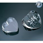 Optical Crystal Heart Crystal Paperweights