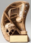 Curve Action Series Sculpted Antique Gold Resin Trophy -Hockey Curve Action Series Sculpted Antique Gold Resin Tr