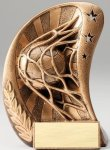 Curve Action Series Sculpted Antique Gold Resin Trophy -Soccer Curve Action Series Sculpted Antique Gold Resin Tr