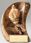 Curve Action Series Sculpted Antique Gold Resin Trophy -Victory Curve Action Series Sculpted Antique Gold Resin Tr