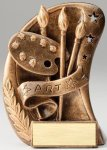 Curve Action Series Sculpted Antique Gold Resin Trophy -Art Curve Action Series Sculpted Antique Gold Resin Tr