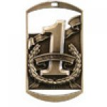 Dog Tag Medals -1st, 2nd or 3rd Place  DT Series Medal Awards