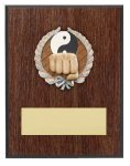 Karate Resin Plaque Mount Award Economy Plaque Awards