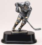 Ice Hockey Elegant Series Sculpted Antique Bronze Resin Troph