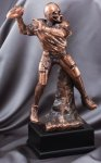 Elegant Series Sculpted Antique Bronze Resin Trophy -Football Elegant Series Sculpted Antique Bronze Resin Troph