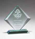 Diamond Series Thick Jade Glass Award Employee Awards