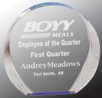 Blue Round Acrylic Employee Awards