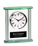 Rectangle Glass Desk Clock  Employee Awards