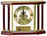 Executive 4 Pillar Rosewood Piano Finish Clock Employee Awards