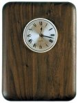 Elliptical Edge Round Corner Genuine Walnut Clock Plaque Employee Awards