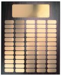 Walnut Finish Perpetual Plaque with Gold Brass Plates Employee Awards