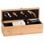 Single Wine Box With Tools -Bamboo Employee Awards