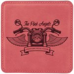Leatherette Square Coaster -Pink Employee Awards