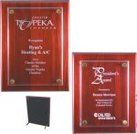 Rosewood Piano Finish Floating Plaque Employee Awards