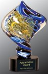 Diamond Twist Art Glass Award Employee Awards
