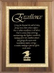 Genuine Walnut Plaque Employee Awards