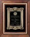 Solid American Walnut Plaque Employee Awards