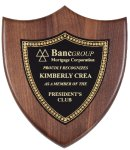 Genuine Walnut Plaque with Satin Finish Employee Awards