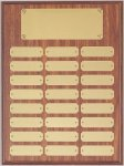 Perpetual Plaque Assembled with Satin Gold Plates Employee Awards