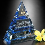 Accolade Indigo Pyramid Executive Crystal Awards