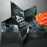 Slanted Star Paperweight Executive Gift Awards