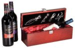 Single Wine Box With Tools -Rosewood Piano Finish Executive Gift Awards