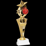 Three Star Trophy -Basketball Figure on a Base Trophies