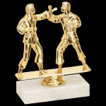 Double Trophy -Martial Arts/Karate Figure on a Base Trophies