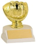 Glove Trophy -Baseball Figure on a Base Trophies