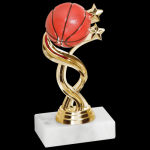 Twisted Trophy -Basketball Figure on a Base Trophies
