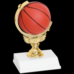 Spinner Trophy -Basketball Figure on a Base Trophies