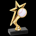 Gold Star Trophy -Baseball Figure on a Base Trophies