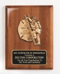 Piano Finish Plaque with Metal Casting Fire and Safety Awards