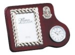Mahogany Photo Frame With Clock Golf Awards