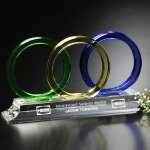 Trident Award Green Optical Crystal Awards