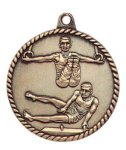 High Relief Medal -Gymnastics Male  High Relief Medallion Awards