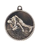 High Relief Medal -Wrestling  High Relief Medallion Awards