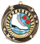 Swirling Star Medal -Insert Holder Iceskating Trophy Awards