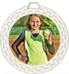 White Bling Medal -Insert Holder  Insert Medallion Awards