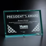 Bristol Rectangle Horizontal Jade Glass Awards