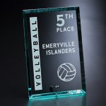 Bristol Rectangle Vertical Jade Glass Awards