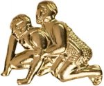 Gold Wrestling Metal Chenille Letter Insignia Lapel Pins